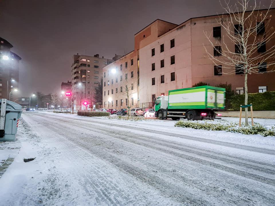 Espectacular nevada en Parquesol (VÍDEO)